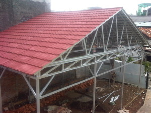 canopy atap genteng metal pasir model sopi sopi