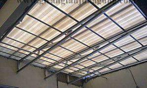proyek canopy atap alderon di sunter jakarta