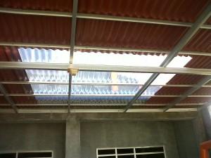 Proyek Canopy Baja Ringan Go Green di Sukatani Cikarang Utara