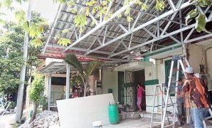 canopy atap pelana
