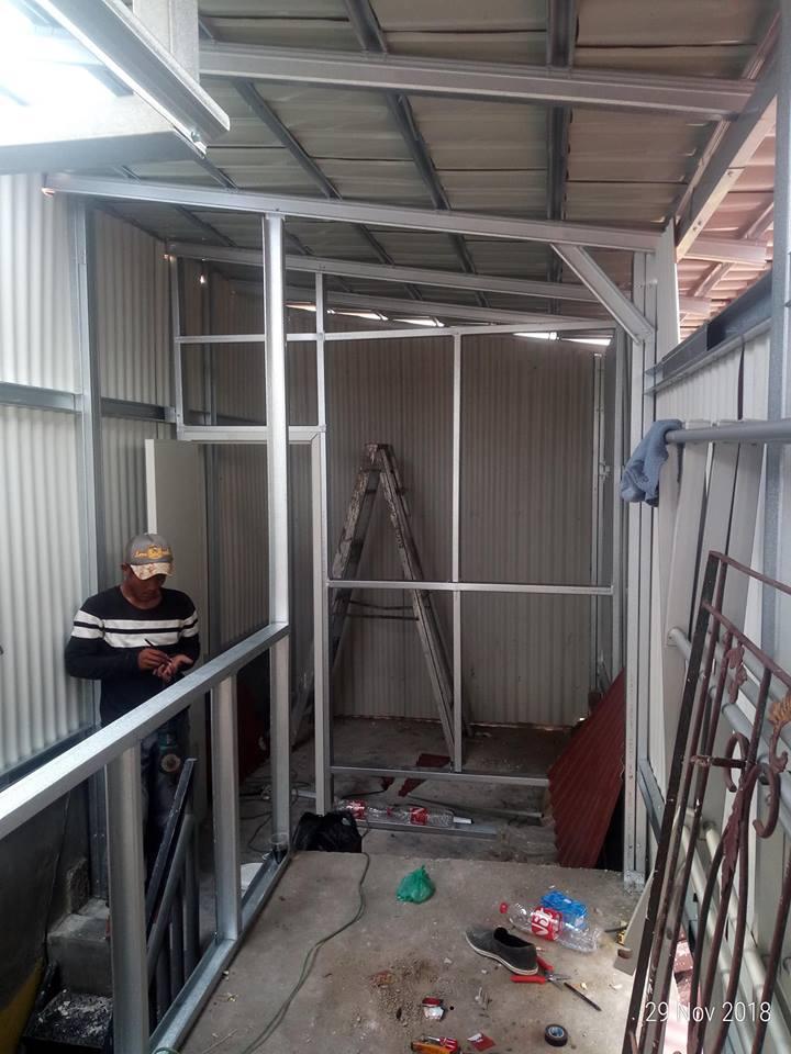 kanopi genteng metal cikarang baru