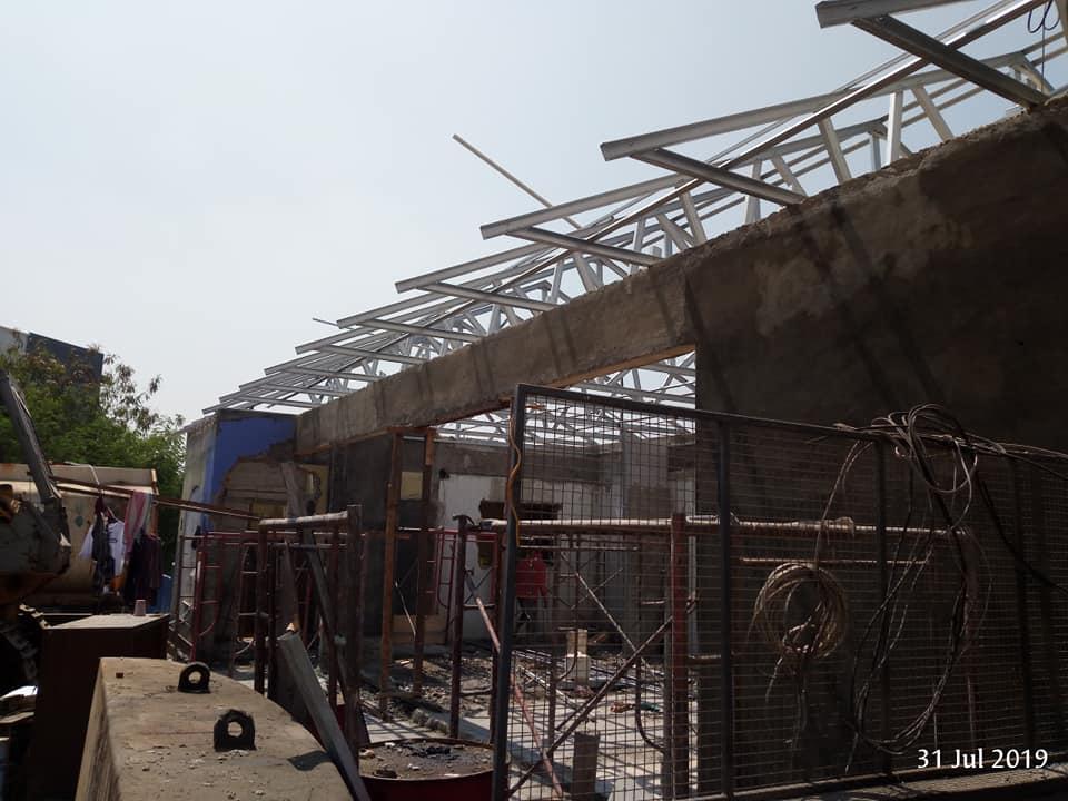 atap kantor gudang delta silicon